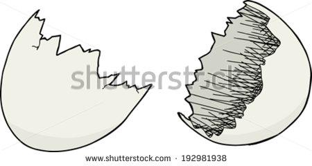Cracked Egg Shell Stock Photos, Royalty.