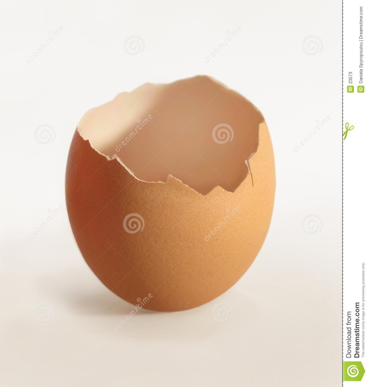 Cracked Eggshell Clipart.
