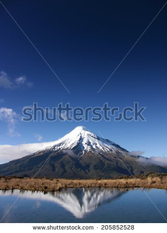 Mount Egmont Stock Photos, Royalty.