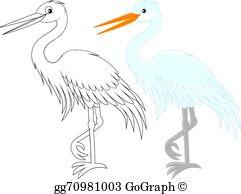 White Egret Clip Art.