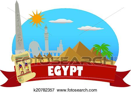Egypt. Tourism and travel Clip Art.