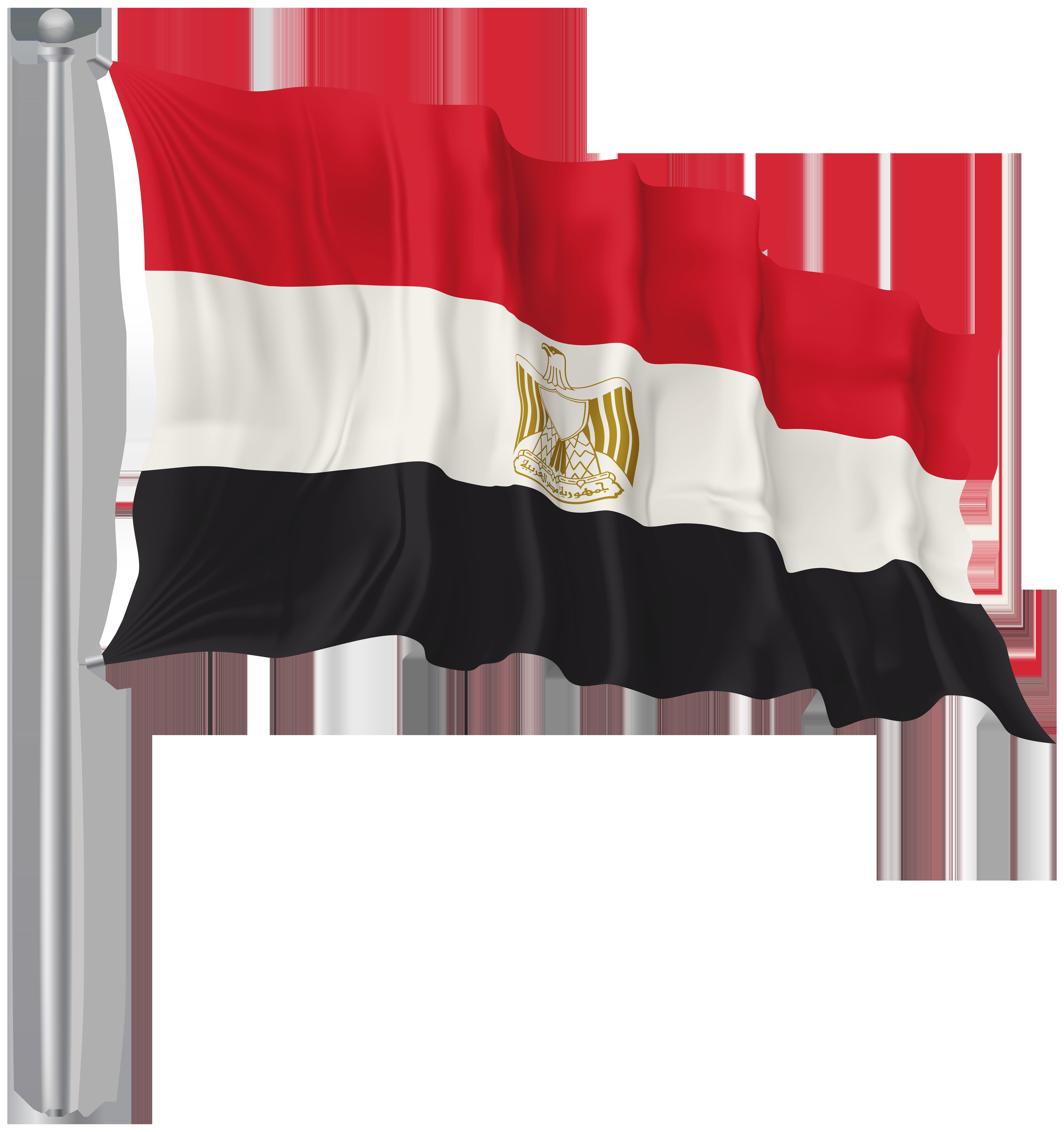 Egypt Waving Flag PNG Image.