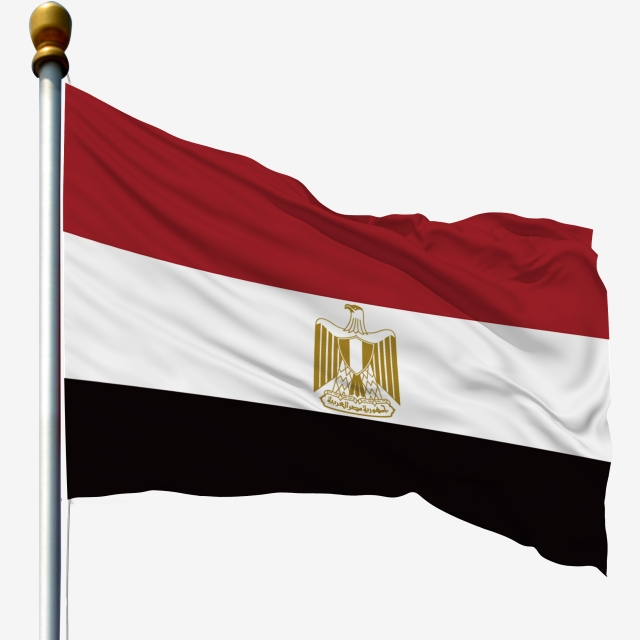 Egypt National Flag Waving Flag Flagpole Flag, Flagpole With Flag.