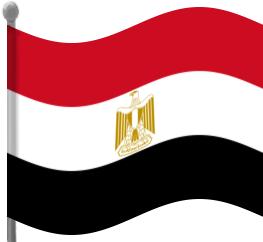 egypt flag waving.