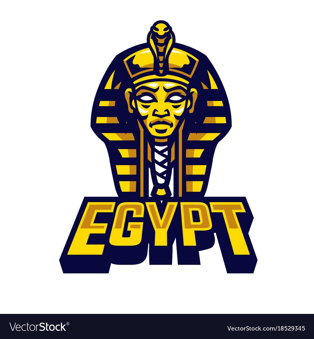 Egyptian sarcophagus logo.