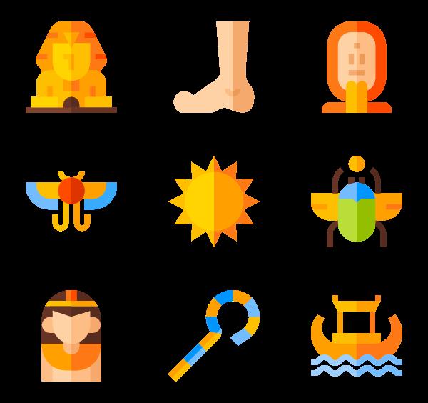 18 egyptian icon packs.