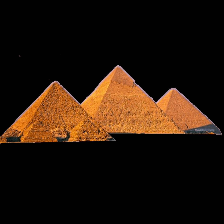 Pyramids 3 Egypt transparent PNG.