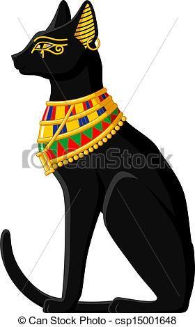 Egyptian Cat Clipart.