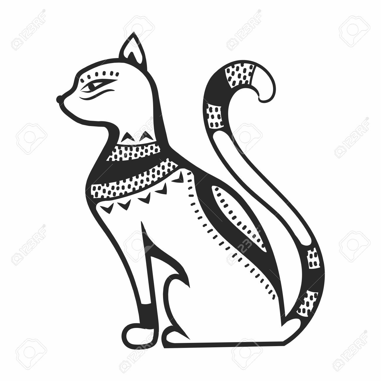 Within Egyptian Cat Clipart 79333017 Vector Egypt Goddess Bastet God.