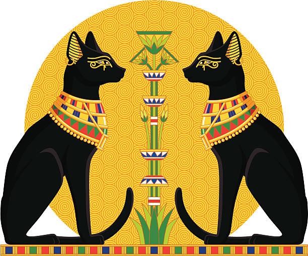 Best Egyptian Cat Illustrations, Royalty.
