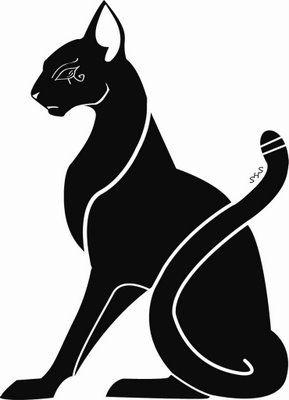Cat tattoo.