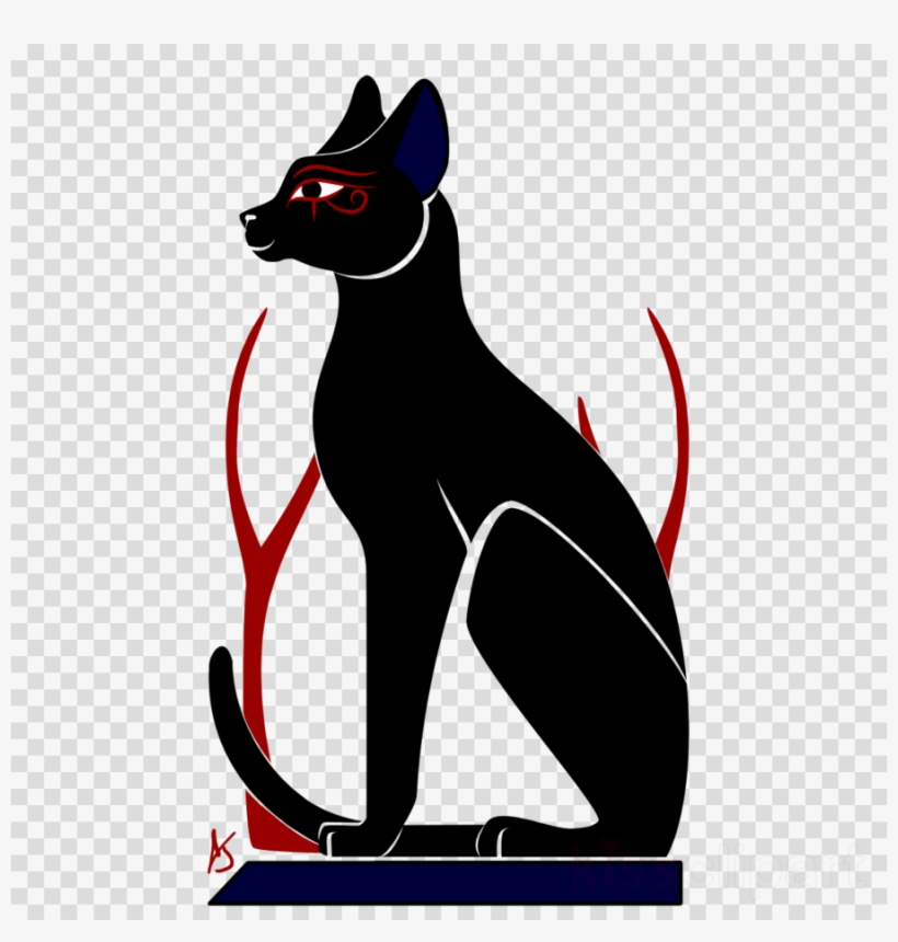 Dog Clipart Whiskers Egyptian Mau Black Cat.