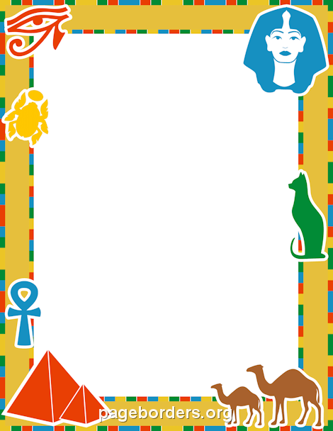 Egyptian Border: Clip Art, Page Border, and Vector Graphics.