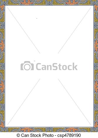 Stock Illustration of egyptian border.