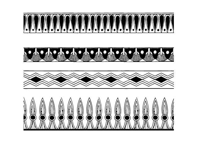 Egyptian Border Designs.