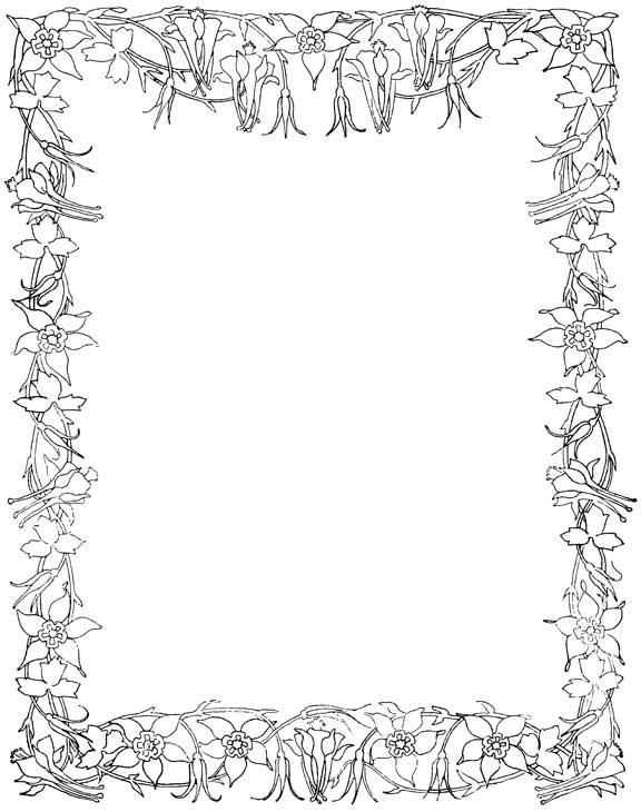 egyptian wedding ring flower borders and frames 4.