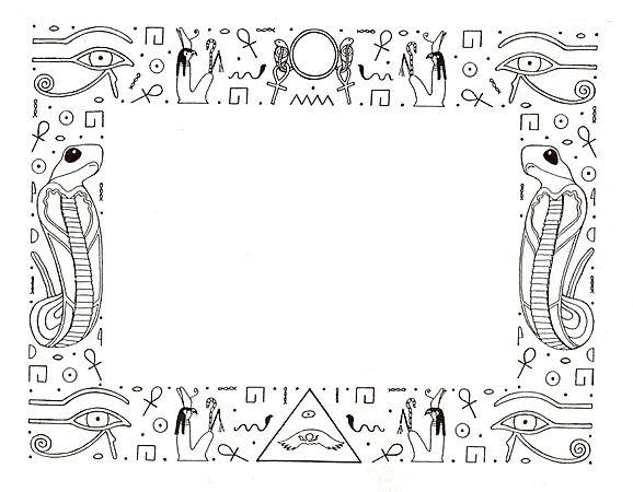 New Egyptian Black Free Border Design.