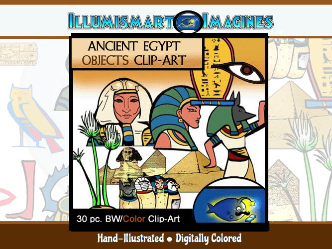 Ancient Egypt ClipArt Ancient Egypt Objects 30 pc. Clip.