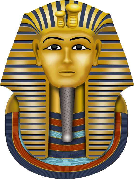 King pharaoh in egypt clipart.