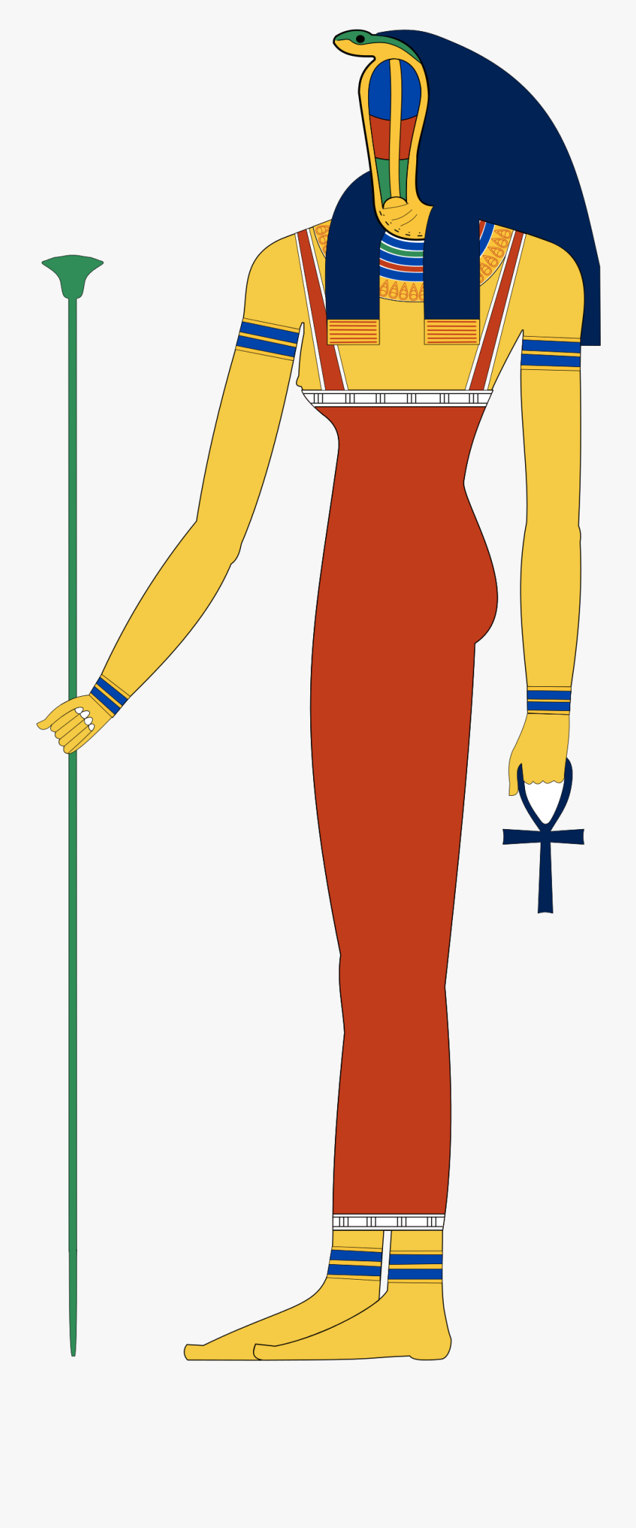 Ancient Egyptian God Isis , Free Transparent Clipart.