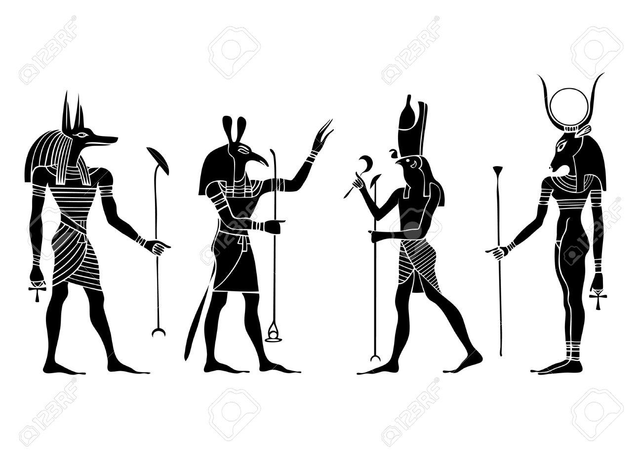 Various Egyptian gods and goddess.