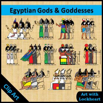 Clip Art: Ancient Egyptian Gods and Goddesses.
