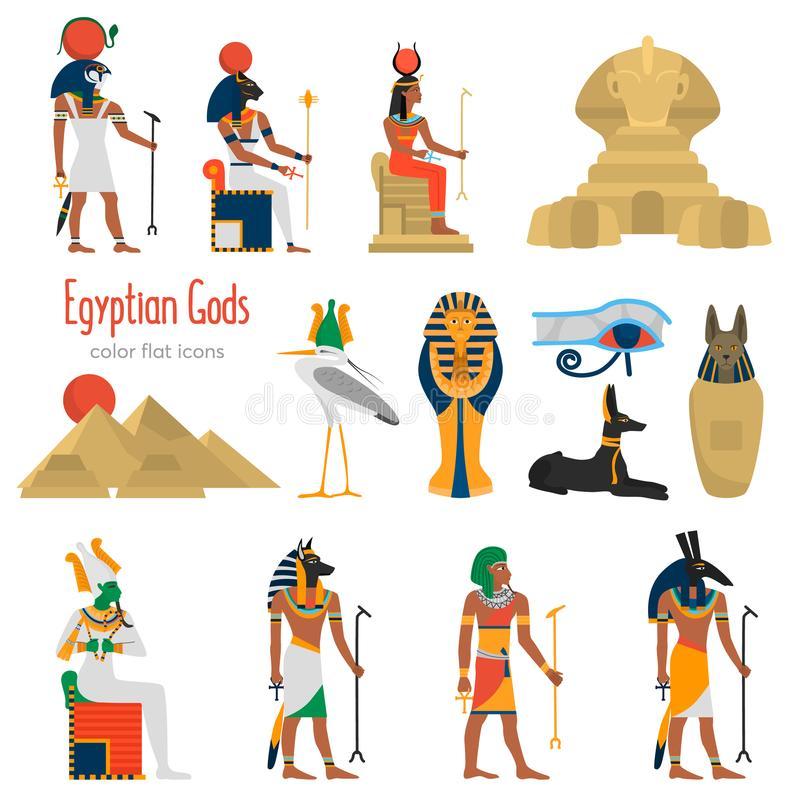 Egypt Gods Stock Illustrations.