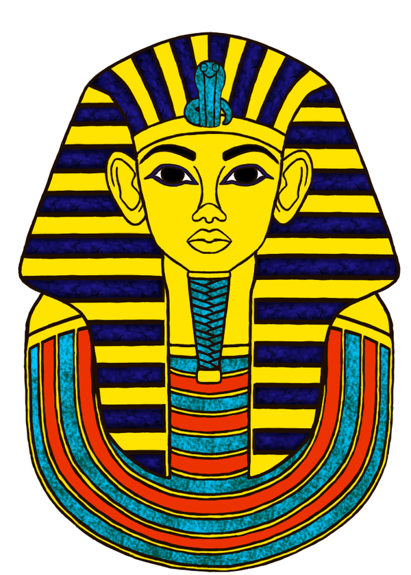 Ancient Egyptian King Tut Drawing free image.