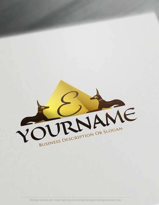 Make online ancient Egyptian Logo Logo Design with Free Logo Creator.