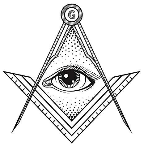 Amazon.com: Black and White Geometric Egyptian Logo with Eye.