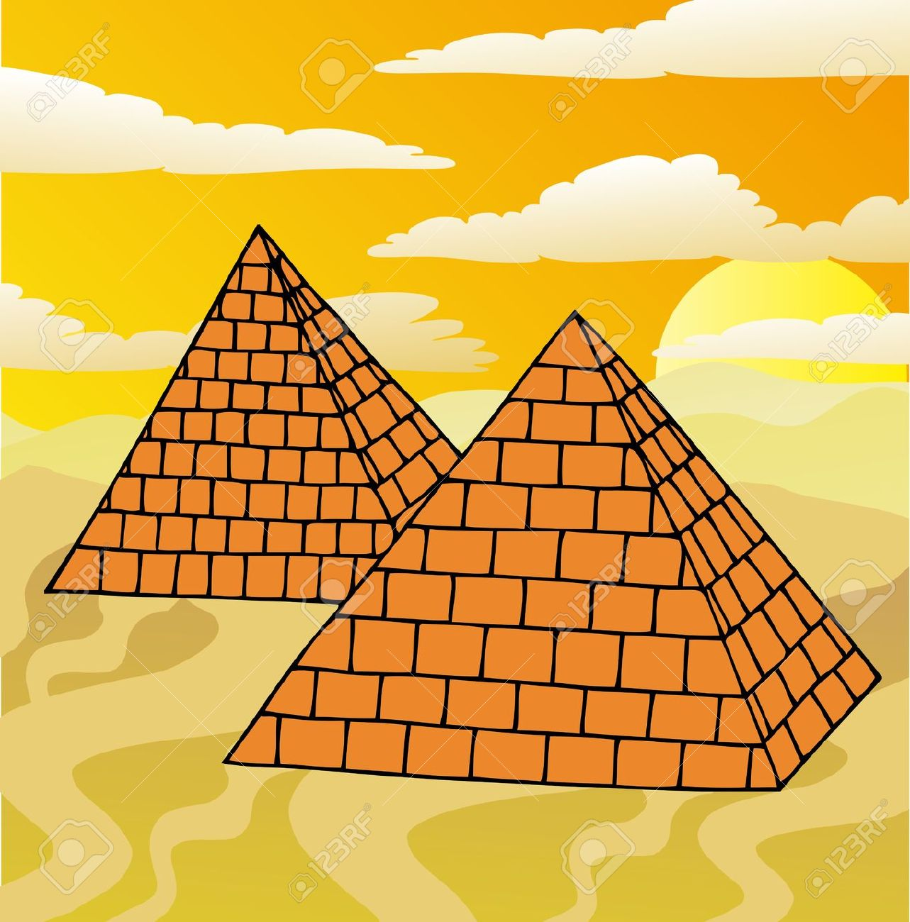 Clipart egyptian pyramid.