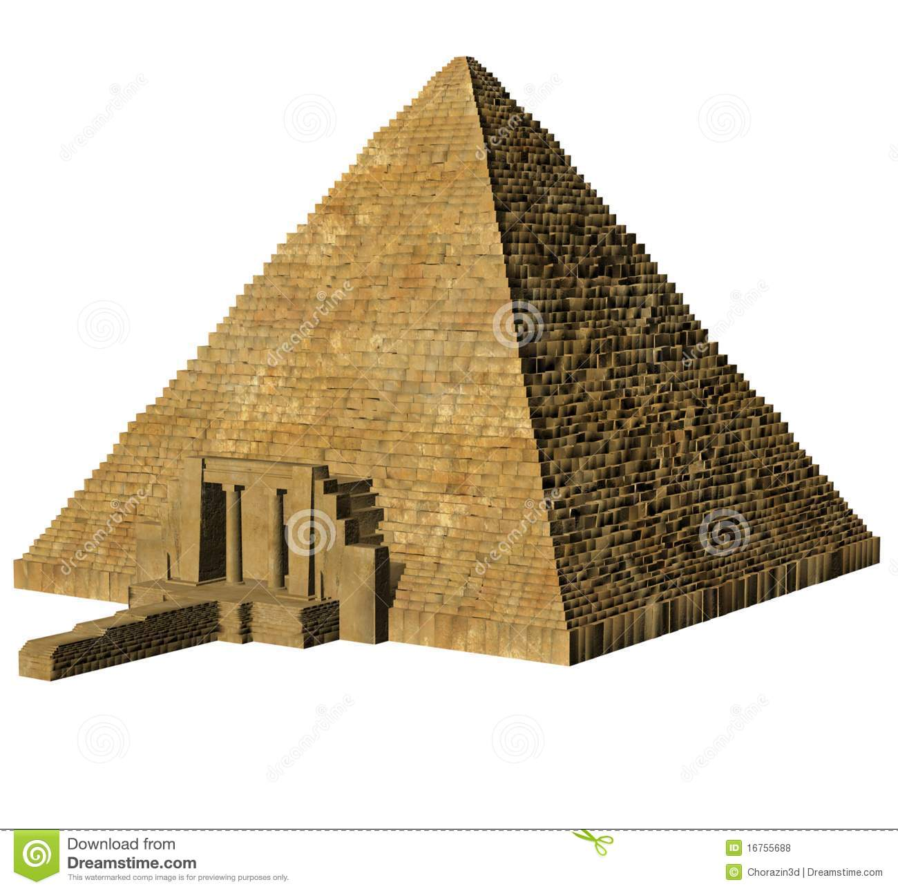 Egyptian Pyramid Royalty Free Stock Photos.
