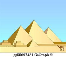 Egyptian Pyramids Clip Art.