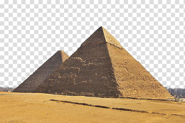Egyptian pyramids Ancient Egypt, pyramid transparent background PNG.