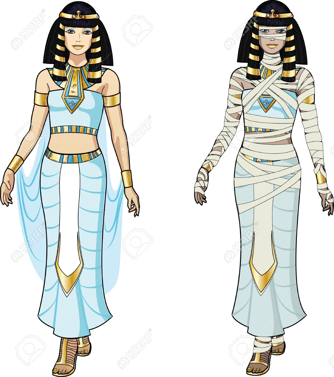 Egyptian Woman Clipart.