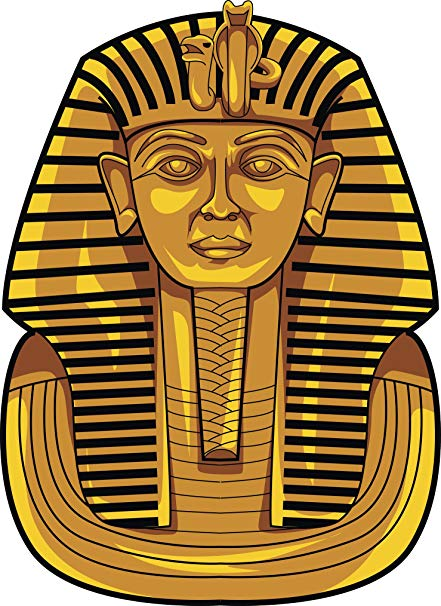 Amazon.com: Cool Simple Golden Ancient Egyptian Sarcophagus Cartoon.