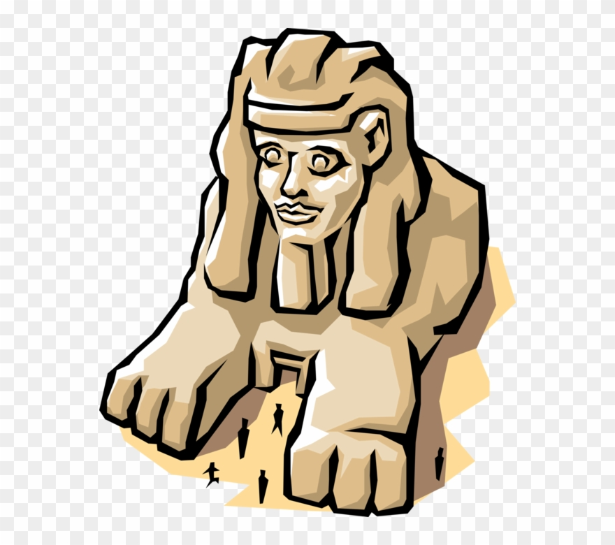 Vector Illustration Of Great Sphinx Of Giza Mythical.