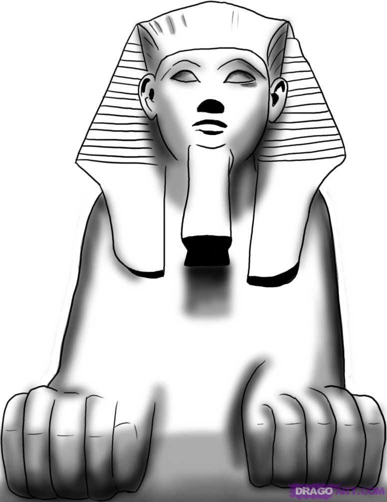 How to Draw an Egyptian Sphinx.