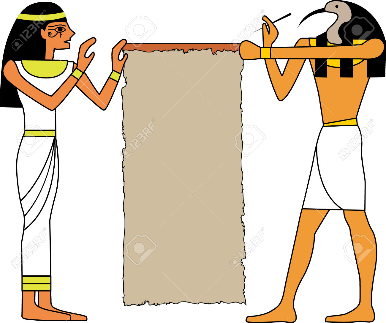 The Vector Set Of Egyptian God 8 Royalty Free Cliparts, Vectors.