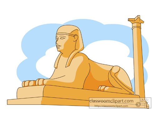 Sphinx egypt clipart.