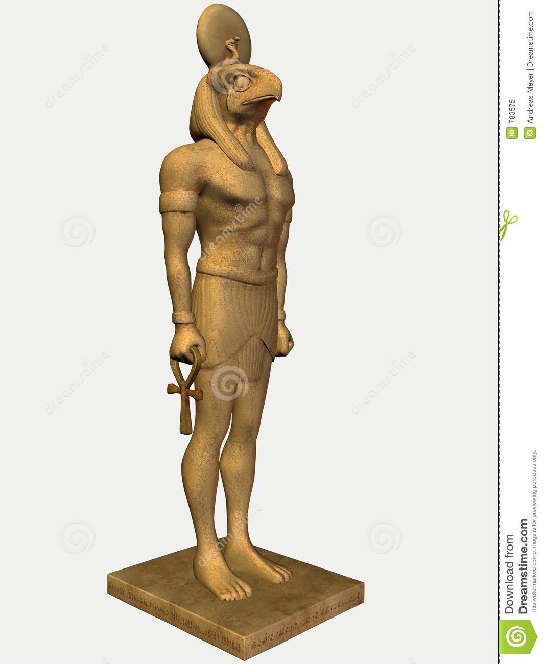 Horus statue clipart.