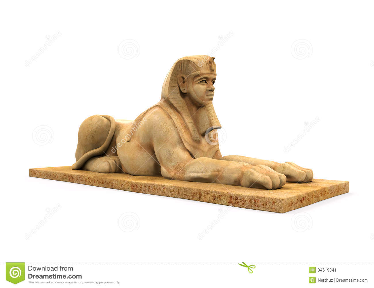 Egyptian Statue Stock Photography.
