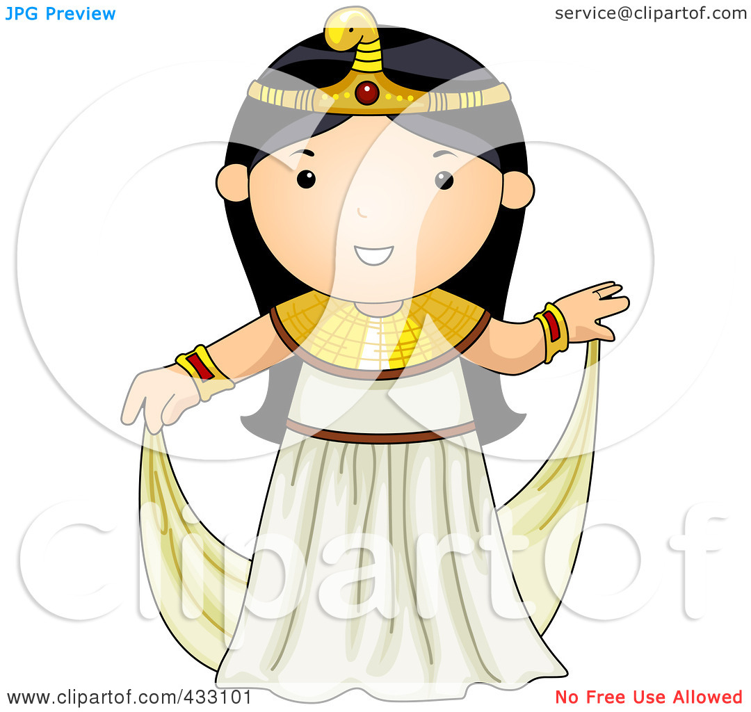 Egyptian Woman Clipart Sitting.