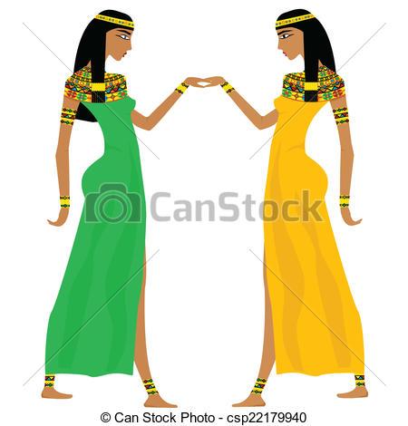 Egyptian Woman Clipart.