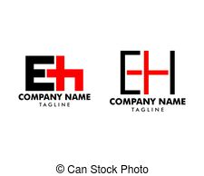 Eh logo Clipart Vector and Illustration. 129 Eh logo clip.