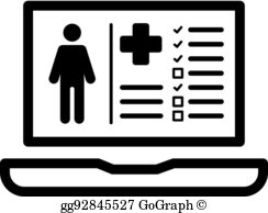 Electronic Health Record Clip Art.