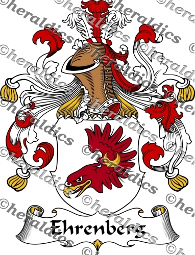 Ehrenberg Coat of Arms Ehrenberg Family Crest Instant Download.