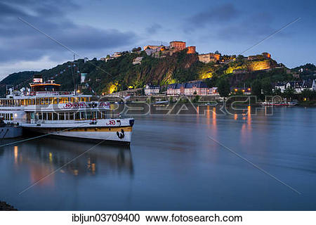 """Stock Photography of """"The river cruise ship """"""""""""""""Goethe"""""""""""""""" on the."""