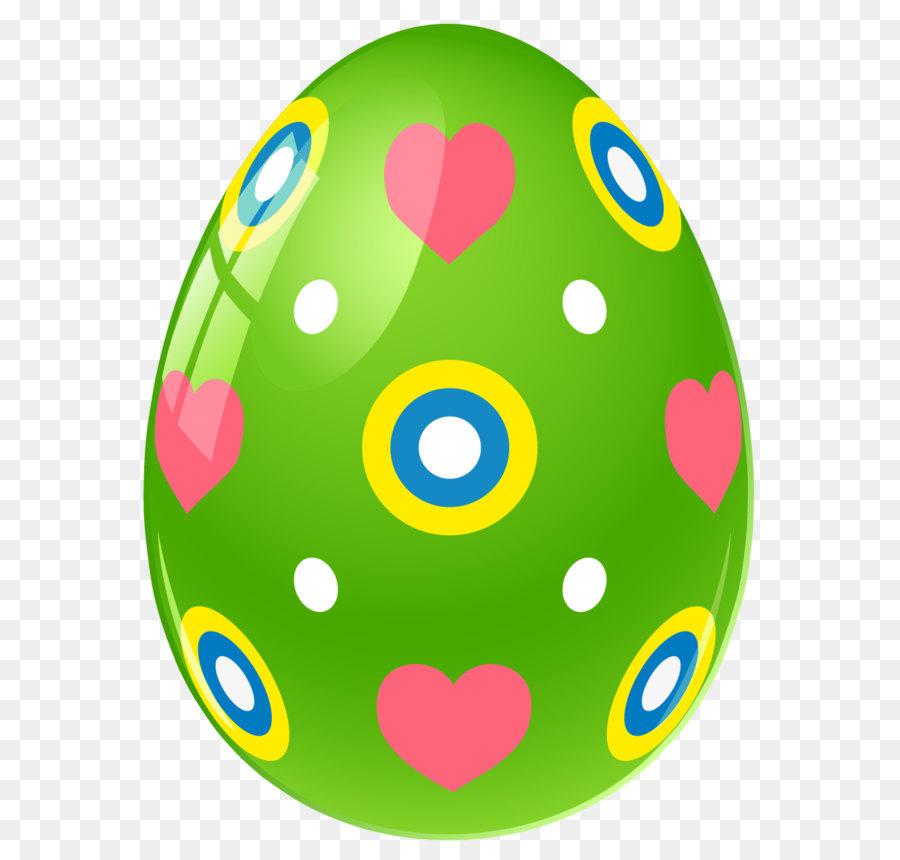 Download Free png Osterhase Osterei clipart Grüne Ostern Ei mit Herz.