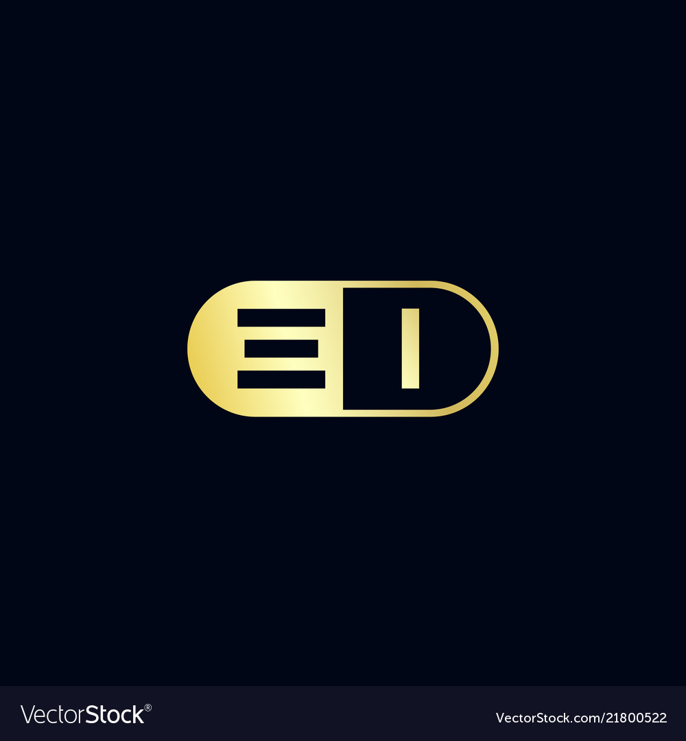 Initial letter ei logo template design.